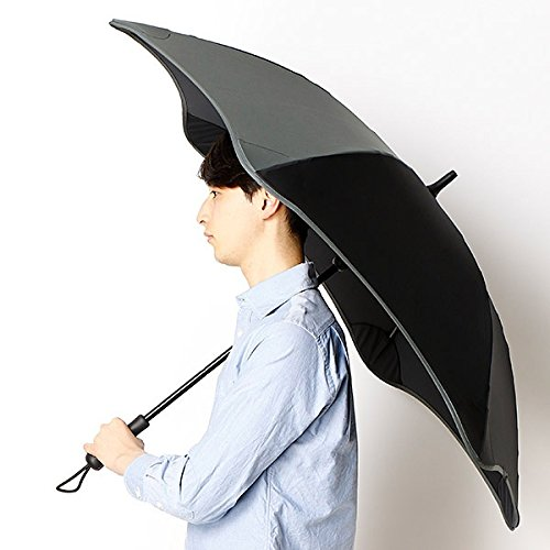 ブラント(BLUNT) 【空気力学による風に強い構造】メンズ長傘(雨傘) B071JZTWJQ 65|15ブラック 15ブラック 65