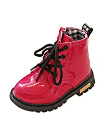 WARMSHOP FASHION Children Anti-skid High Boots Waterproof Casual Shoes