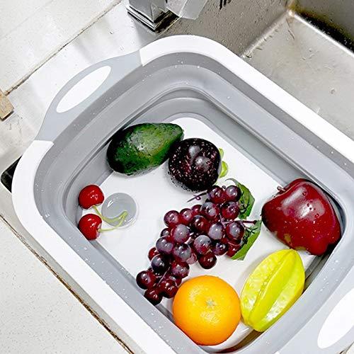 Portatile Fishyu Tagliere Pieghevole Multifunzione con vaschetta per Verdure