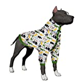LovinPet Big Dog Pajamas, Post Surgery Wear Pitbull Cotton Large Dog Shirt for Labrador Doberman Boxer Review