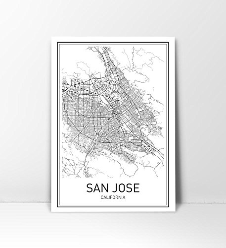 San Diego, San Diego Map, San Diego Map Print, City Map Posters, Modern Map Art, California Map Art, California, Map Wall Art, Black and White, Minimalist Art, Scandinavian Poster, 8x10
