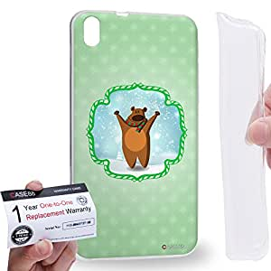 Case88 [HTC Desire 816] Gel TPU Carcasa/Funda & Tarjeta de garantía - Art Christmas Classics Christmas Bear Art1413