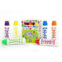 Fruit Scented Washable Dot Markers for Kids and Toddlers Educational Set of 6 Pack by Do A Dot Art, The Original Dot Marker