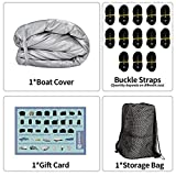 iCOVER Heavy Duty Waterproof Boat Cover, Fits