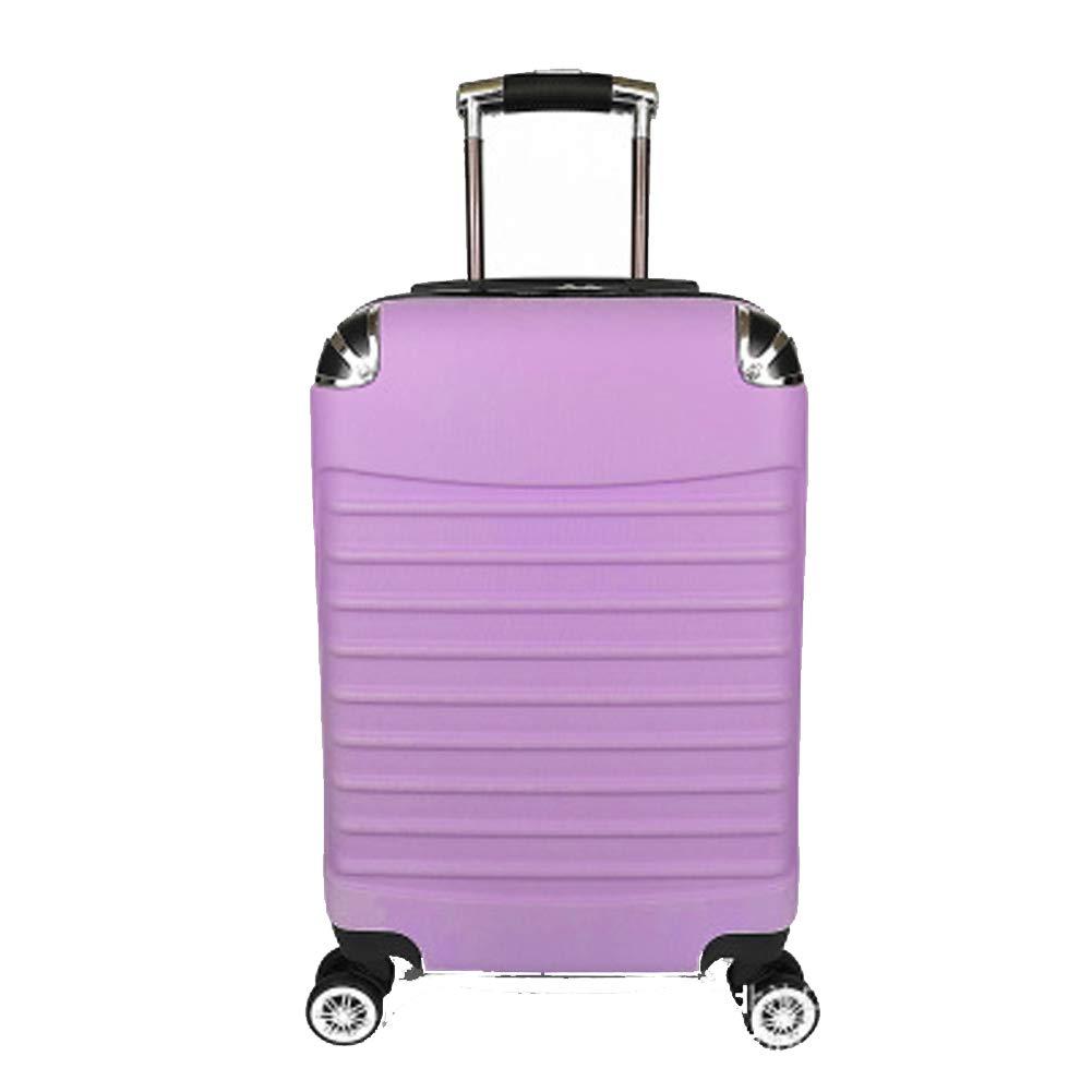 旅行荷物、トロリーケース、abs + pcユニバーサルホイール旅行荷物、ギフトスーツケース、 Medium purple B07QTQ32D5
