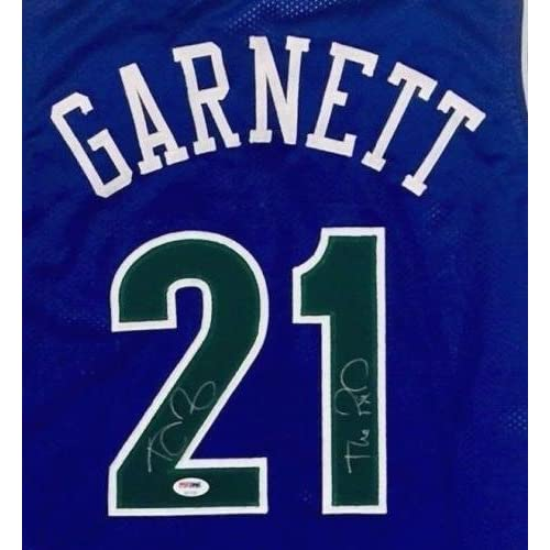 finest selection 18357 4525b Kevin Garnett Signed Jersey - WOLVES THE KID ITP COA - PSA ...