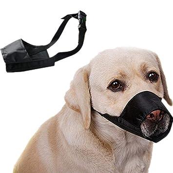 yiyao - Bozal para Perro Ajustable, bozal antimordeduras para Perros pequeños, medianos, Grandes