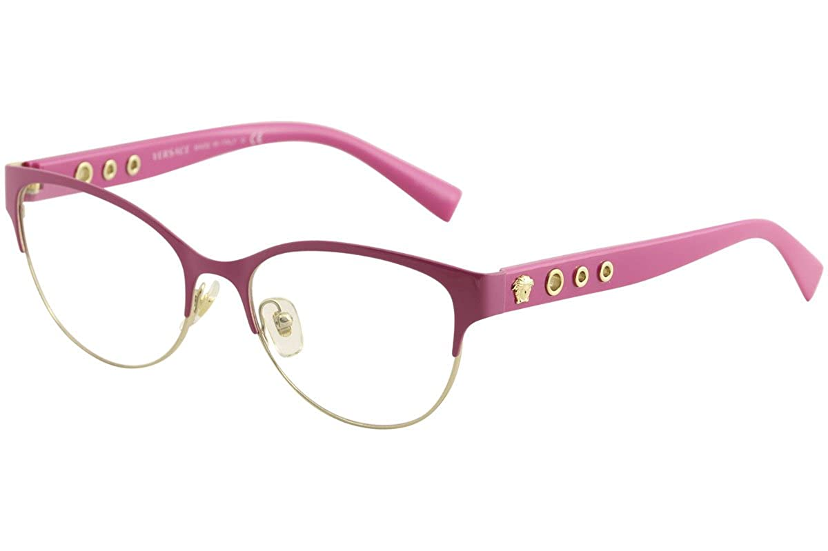 a670901a241 Amazon.com  Versace VE1237 Eyeglass Frames 1384-53 - 53mm Lens Diameter  Fuxia Pale Gold VE1237-1384-53  Clothing