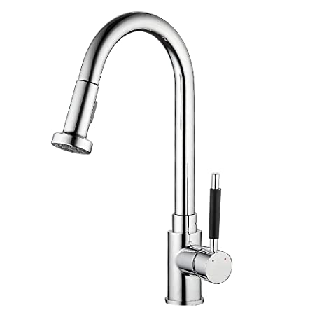 Everso Kitchen Sink Mixer Taps Pull Out Spray Single Lever Chrome