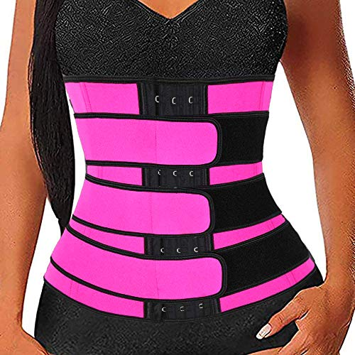 Faraone4w 2021 New Waist Trainer for Women - Waist Trainer for Women and Butt Lifter - Latex Waist Trainer for Women - Waist Trainer for Women After Birth Rose Red