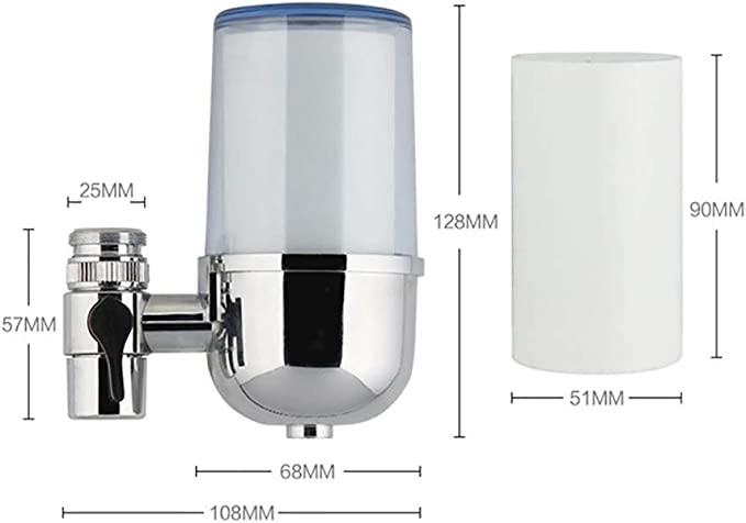 ZUEN Filtro de Agua, purificador de Agua del Grifo, Cocina casera ...