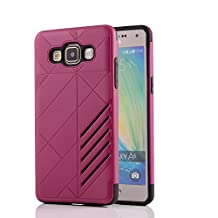 MOONCASE Galaxy A5 Case Hybrid Armor Tough Rugged [Anti Scratch] Dual Layer TPU +PC Frame Protective Case Cover for Samsung Galaxy A5 (2015) Hotpink
