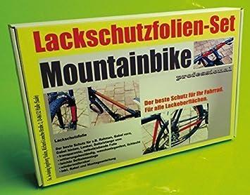 Steinschlagschutz Lackschutz Folie Set 23 Teile Fahrrad Bike transparent