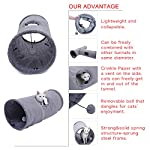 Speedy Pet Collapsible Cat Tunnel, Cat Toys Play Tunnel Durable Suede Hideaway Pet Crinkle Tunnel with Ball,12 inch Diameter 7