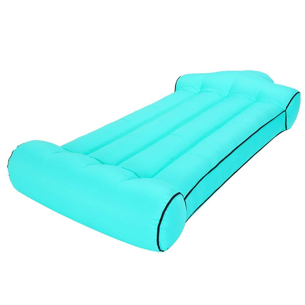 vert L(190x85x35cm) Lit Gonflable Paresseux d'air de Sofa de Sac de Couchage Gonflable de Plage de Camping en Plein air d'intérieur de Bureau