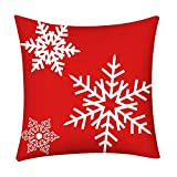Throw Pillow Covers Merry Christmas Notekd Christmas Decorative Cushion Cover Case Pillow Custom Zippered Square Home Decor Pillowcase 18x18 for Sofa Bed Room (B)