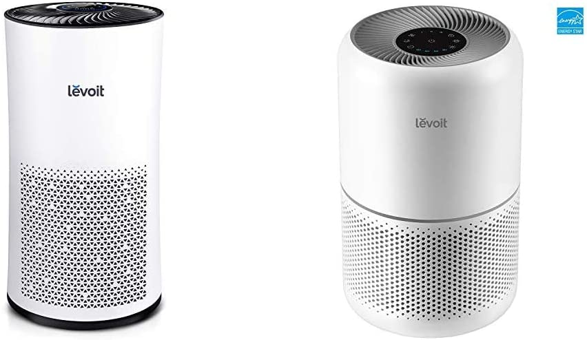 LEVOIT Air Purifier for Home Large Room with H13 True HEPA Filter & Air Purifier for Home Allergies Pets Hair Smokers in Bedroom, H13 True HEPA Air Purifiers Filter, for Large Room, Core 300, White