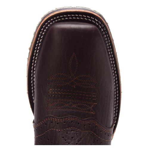 Doble H Para Hombre Chocolate Wide Square Toe Ice Roper Bota Dh3575 Choc / Gris