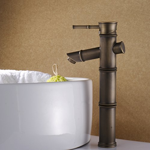 LI Copper-gold-plated lift continental air basin faucet mixing valve by Lina-faucet