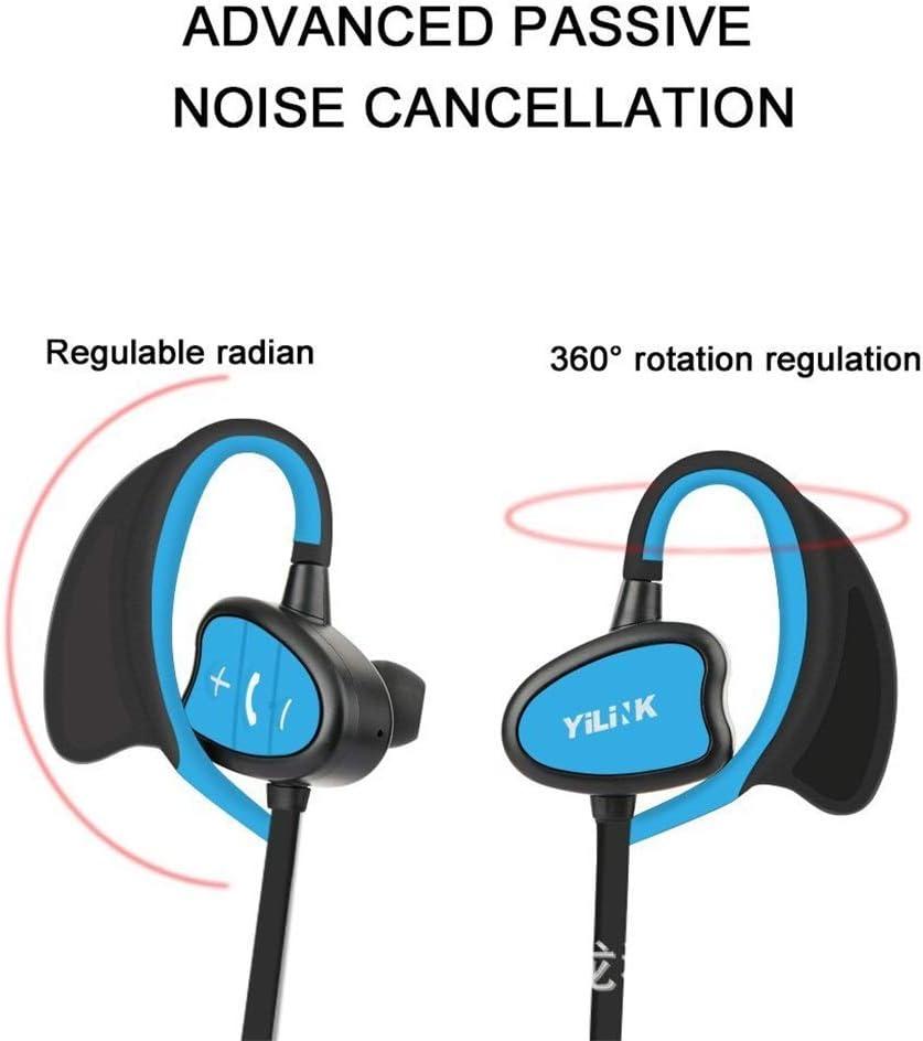 Bluetooth hoofdtelefoon, draadloos, subwoofer, in-ear hoofdtelefoon, IPX8, waterdicht, voor zwemmen, geneeskunde, siliconen, oorhaak Netto Netto