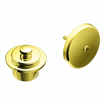 Moen T90331P Tub Drain Kit with Push-N-Lock Drain Assembly, Polished Brass - Sink And Drain Equipment - Amazon.com