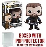 Funko Pop! Game of Thrones: GOT - Ned Stark #02 Vinyl Figure (Bundled with Pop BOX PROTECTOR CASE)