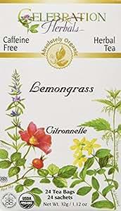 CELEBRATION HERBALS Lemongrass Tea Organic 24 Bag, 0.02 Pound