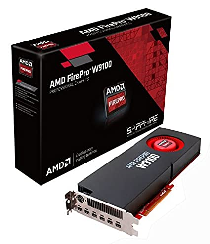 Sapphire AMD FirePro W9100 16GB GDDR5 6 Mini DisplayPort Eyefinity 6  Edition/Stereo 3-pin Din PCI-Express Graphics Card Graphics Cards 100-505725