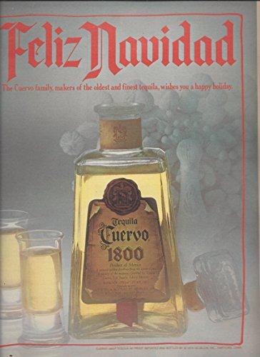 --PRINT AD-- For Jose Cuervo 1800 Tequila Feliz Navidad 1981 --PRINT AD--