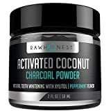Image of Teeth Whitening - Activated Charcoal Powder With Coconut And Xylitol - 100% Natural & Effective, Removes Stains & Promotes Oral Hygiene, Made in USA, Peppermint