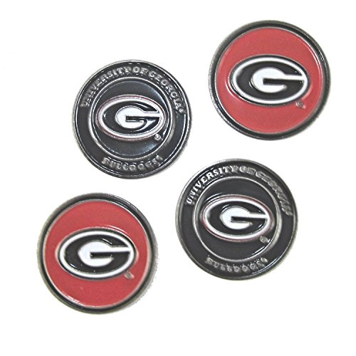 - Georgia Bulldogs Double Sided Golf Ball Marker (Set of Four)