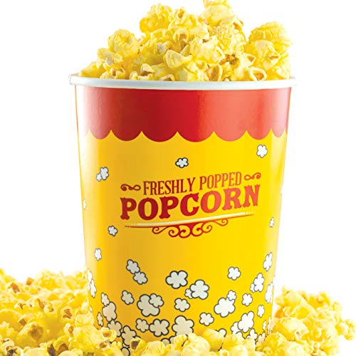 Premium Leak-Free 32 Oz Disposable Popcorn Cup 5pk By Avant Grub. Stackable Buckets With Fun Design. Great For Concession Stands, Carnivals, Fundraisers, School Events, Or Family Movie Nights.