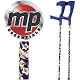 MP Essentials Compact Funky Pattern Forearm Medical Stabilising Crutches - Pair (Blue)