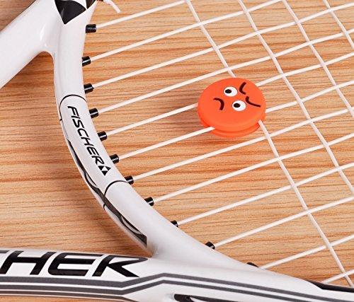 HLC 3er Smiley Tennis Tennisschläger Vibrationsdämfer Emoji