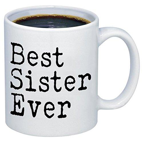 P&B funny mugs P&B Best Sister Ever Gift Ceramic Coffee Mugs M121 (11 oz.)