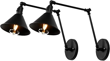 Industrial Adjustable Swing Arm Ceiling Light Sconce Wall Lamp Fixture