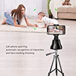 NOYMI Mobile Stands for Video Recording & Camera,360°Rotation Object Tracking,Desktop Gimbal Smartphone Selfile Stick Stand for Phone Mobile Tiktok YouTube Video Shooting(Black) 3