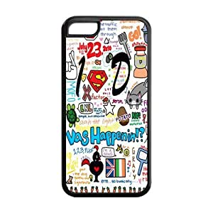 5C Phone Cases, One Direction Hard TPU Rubber Cover Case for iPhone 5C
