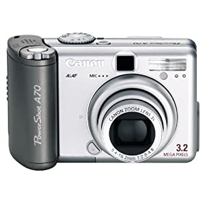 Canon PowerShot A70 3.2MP Digital Camera w/ 3x Optical Zoom