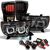 GAZE Toyota Tundra Smoked SMD LED Headlights + Black Smok...