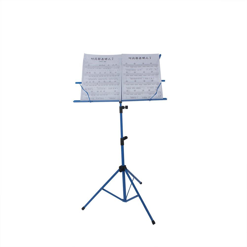 Dilwe Support de Musique ré glable, tré pied de Musique Pliable avec Sac de Rangement trépied de Musique Pliable avec Sac de Rangement (Bleu) Dilweocf2r36tvw-02