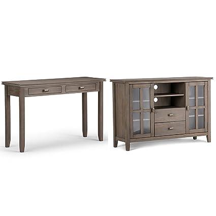Amazon Com Simpli Home Artisan Console Sofa Table Distressed Grey