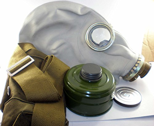 GP-5 Original Soviet Civilian Protective Gas Mask (activated Charcoal filter and bag included) (Medium, white)