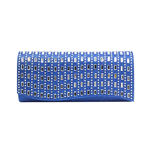 Sac Strassé Baguette Noir à Rabat Scintillant Besace Pour Pochette Main Femme Bleu Style 5BawxqHF