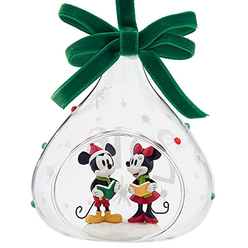 mickey and minnie mouse glass sketchbook ornament holiday 2016 - Mickey And Minnie Christmas Decorations