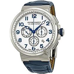 Ulysse Nardin Marine Chronograph White Dial Automatic Mens Watch 1503-150-60