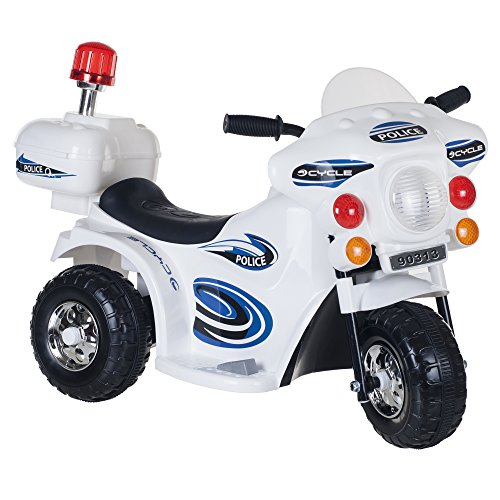 Ride on Toy, 3 Wheel Motorcycle for Kids, Battery Powered Ride On Toy by Lil' Rider – Toys for Boys and Girls, Toddler - 4 Year Old, Police Car