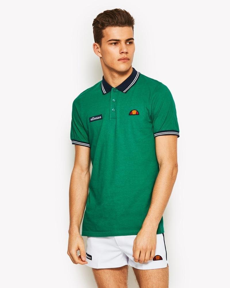 Ellesse Motti Polo de Tenis, Hombre, (bosphorus), S: Amazon.es ...