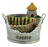 fine fairy garden design Clever Home Fairy Garden Container Pot with Fairy Hut in Resin with Fine Painted Detailing (9 x 10 x 8.5 inch)