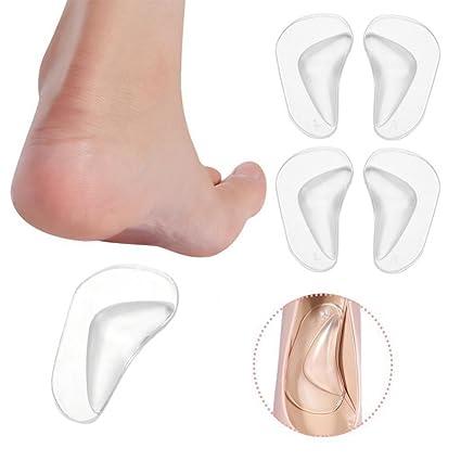 reputable site 72847 e81a1 Semelles de support d arche, 2 paires Set Orthotic Pieds en Silicone Foot